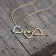 personalised 9ct gold mini heart necklace by posh totty designs   notonthehighstreet.com