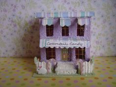 Easter Purple Putz style Village Candy by thesaltboxcollection, $22.00