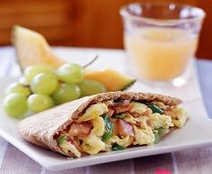 Healthy Breakfast Pita Pockets