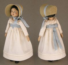 Hitty's Quaker Outfit and Cap with Straw Bonnet