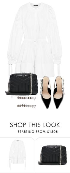 """Untitled #5594"" by theeuropeancloset ❤ liked on Polyvore featuring Alexander McQueen and Yves Saint Laurent"