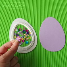 How to make an Easter Egg Shaker Card | papermilldirect