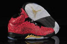 2c612c481a4768 Buy Nike Air Jordan 5 Mens Style Official Red Black Shoes New from Reliable Nike  Air Jordan 5 Mens Style Official Red Black Shoes New suppliers.