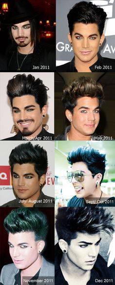 Adam Lambert's Hair Styles From January 2011 to December 2012 | Adam Lambert 24/7 News