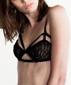 c4dc22dba2 Lux Black Cut Out Bra by Lonely Hearts Black Lingerie