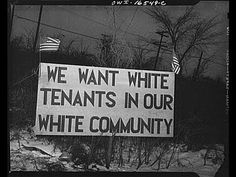 """""""We want white tenants in our white community, """" Detroit ca. 1943 A riot broke out at the Sojourner Truth homes, a new U. federal housing project, caused by white neighbors' attempt to prevent black tenants from moving in. Trauma, Jim Crow, Culture, African American History, Documentary Film, Civil Rights, Black History, Case Study, The Past"""