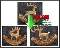 Rocking Reindeer Set of 3 Downloadable Scrollsaw Patterns