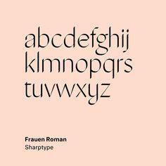 "28 Likes, 2 Comments - Type Type (@type__type) on Instagram: ""Frauen by Lucas Sharp @sharp_type . . . . . . #type #typography #font #art #design #sharp #frauen…"""