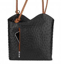 43a498b8a0 Dettagli su ITAL Donna Vera Pelle Borsa 2in1 ZAINO A TRACOLLA CITY-Zaino in  pelle bag- mostra il titolo originale