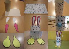 DIY: Conejo de Pascua con rollo de papel