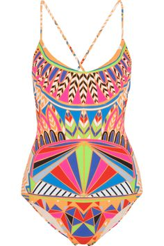 If were to ever wear a one-piece! omg. Mara Hoffman | Printed swimsuit | NET-A-PORTER.COM