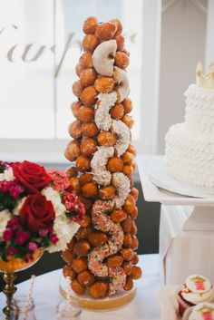 Donut Tower from a Royal London Birthday Party via Kara's Party Ideas… Boys 1st Birthday Party Ideas, My Daughter Birthday, Birthday Party Celebration, Birthday Desserts, 60th Birthday Party, Birthday Party Decorations, Bridal Shower Cakes, Dessert Table, Dessert Ideas