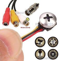 Mini Micro Spy Camera Screw Pinhole Hidden Button 800TVL Video Home CCTV Cam