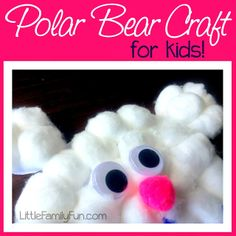 Fun and easy Polar Bear Craft for kids!