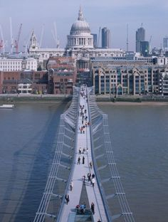 Lord Norman Foster's Millennium Bridge in London , UK- Photo courtesy of Foster + Partners Norman Foster, London England, England Uk, London Bridge, London City, London Pubs, London Architecture, Gothic Architecture, Ancient Architecture