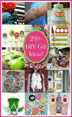 200+ DIY Gift Ideas you won't want to miss! PIN now, read later!