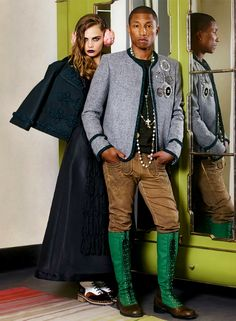 Cara Delevingne & Pharrell Williams for Chanel Pre-Fall 2015 Advertising Campaign, ph. by Karl Lagerfeld