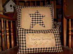 Primitive Star Pillow Case