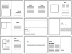 Grid structures are the layout look of where the image and body copy will be placed on what is being created. They are very important because they breakup the layout of the design so you can imaging the way you want your design to be. Editorial Design Layouts, Graphic Design Layouts, Book Design Layout, Print Layout, Design Posters, Graphic Design Magazine, Magazine Layout Design, Magazine Layouts, Graphisches Design
