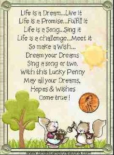 Image result for poem about lucky penny