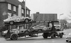 "motorsportsarchives: ""Aston Martin Lagonda off to Le Mans 24 "" Aston Martin Lagonda, Aston Martin Cars, Vintage Sports Cars, Vintage Race Car, Vintage Trucks, Vintage Auto, Sports Car Racing, Sport Cars, Race Cars"