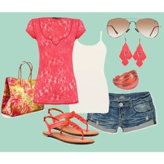 cute summer outfit...with capri's or a maxi skirt instead. Booty shorts are so out.  :)