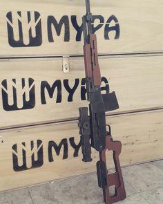 Mypa Wooden Diy Rubber Band Gun