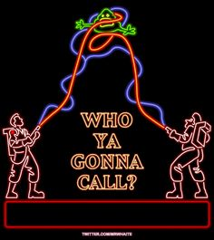 Who you gonna call? Ghost Busters!