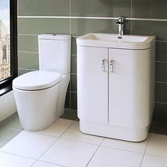 Although I'm set on going for the all-in-one wc sink vanity, I can't help but come back again and again to these smooth curves