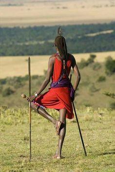 Maasai warrior in Kenya.