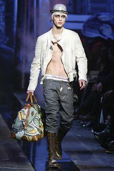 John Galliano Fall 2006 Menswear Collection Slideshow on Style.com
