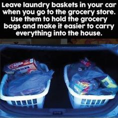 I love this for organizing your car