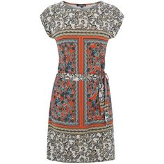 Warehouse Blocked Paisley Tunic Dress ($59) ❤ liked on Polyvore