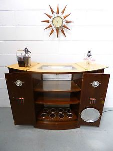 Captivating STUNNING Retro Vintage Atomic 50s 60s Extending Cocktail Drinks Cabinet Home  Bar