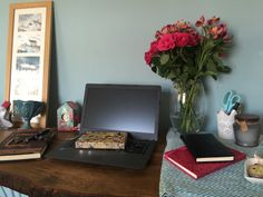 YA fantasy romance Author Lorraine Ambers Desk
