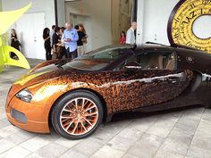 Bernar Vernet's Bugatti Car at the Rubell Family Collection