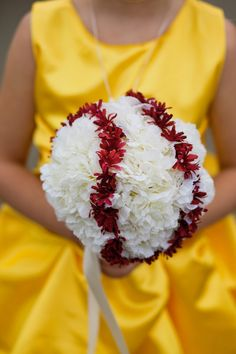 yellow flowers, softball wedding ideas, baseball flowers, wedding softball, wedding bouquets