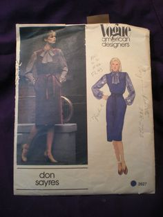 Vogue American Designer 2627  Don Sayres Jumper by Clutterina