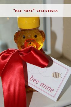 Bear honey VDay gift for teacher :)