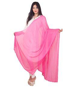 Pink Color  Soft Chiffon Dupatta