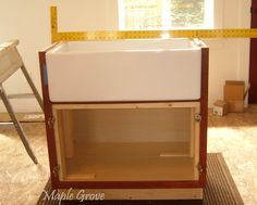 At Maple Grove: How to Build a Support Structure for a Farm House Sink