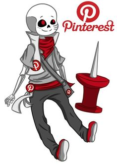 In honor of Pinterest, here I present to you..... (Kazoo Megalovania intensifies):Pinterest!Sans. *turns to bad Sanses* You be nice cuz I said so. *turns to good Sanses* You.... Continue to be nice I guess.
