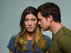 Michael C. Hall and Jennifer Carpenter in Dexter
