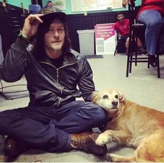 Norman Reedus and pal