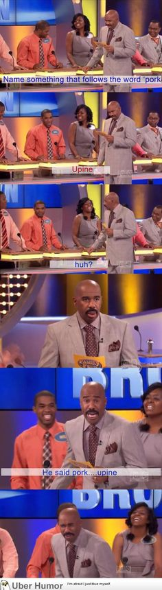 Sometimes the dumbest shit comes out of our mouths!!!  I LOVE Steve Harvey's face!