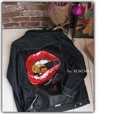 by KOKO4KA hand painted denim jacket/jacket by KOKO4KAjeansTUNING