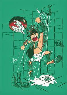 Clera do Drago / Rozan Sho Ryu Ha / CDZ / Saint Seya by Yuri Saluceste, via Behance Anime Chibi, Manga Anime, Anime Art, Comic Manga, Manga Comics, Geeks, Arte Nerd, Anime Japan, Cool Cartoons