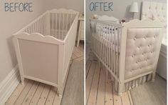 La tête de lit à faire soi-même, pour le lit bébé IKEA HENSVIK
