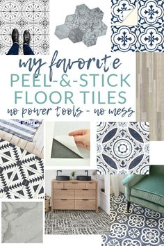 The BEST Peel-and-Stick Vinyl Floor Tile & Decals Flooring can be expensive & messy to install. Give vinyl floor tile a try for a mess-free, quick, easy, & inexpensive flooring solution. Just peel & stick! Tile Over Tile, Stick Tile Backsplash, Bathroom Floor Tiles, Vinyl Flooring Bathroom, Luxury Vinyl Tile Flooring, Bathroom Bath, Tiling, Bathroom Ideas, Flooring On Walls