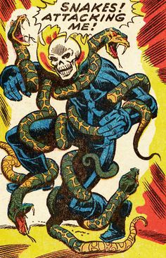 comicsriot:  art by Mike Ploog and Jim Mooney  perhaps they are attracted to the smell of flaming skull…